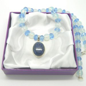 Lapis Pendant and Opals