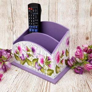Letter rack desk tidy floral sweet pea 201