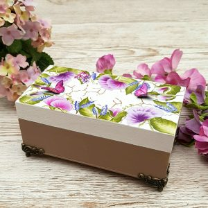 sweet pea butterfly decorative box 100